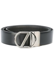 Z Zegna Adjustable Belt Men Calf Leather 110 Black