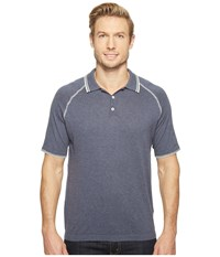 Agave Watson 100 Supima Short Sleeve Polo W Tipping Ombre Blue Men's Clothing Navy