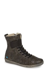 Cloud Amos Wool Lined Bootie Grunge Black Leather