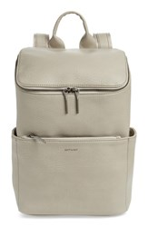 Matt And Nat 'Brave' Faux Leather Backpack Grey Cement