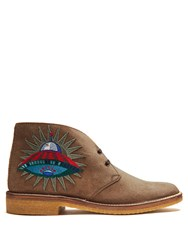 Gucci New Moreau Suede Desert Boots Camel