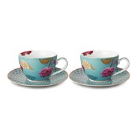Pip Studio Fantasy Cappuccino Cup And Saucer Set Of 2 Blue