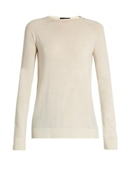 The Row Heba Wool And Cashmere Blend Sweater Ivory