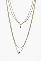Boohoo Multi Chain Pendant Layered Necklace Gold