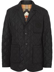 Burberry Quilted Thermoregulated Blazer Black