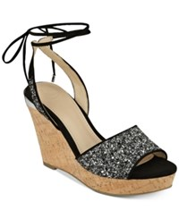 Guess Women's Edinna Wedge Sandals Women's Shoes Black