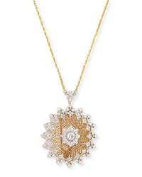 Tulle Diamond Brooch Pendant Necklace Buccellati