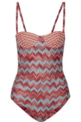Missoni Crochet Knit Padded Underwired Swimsuit