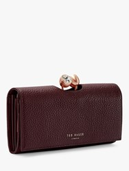Ted Baker Solange Leather Matinee Purse Maroon