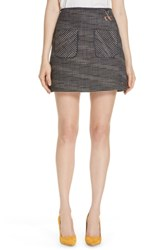 Ted Baker London Shaula Colour By Numbers Boucle Miniskirt Navy