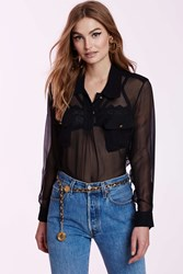 Nasty Gal Vintage Chanel Mirabelle Silk Blouse
