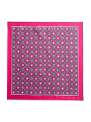 Paul Costelloe Fitzroy Floral Motif Pocket Square Pink