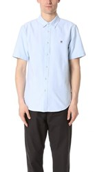 Obey Eighty Nine Short Sleeve Oxford Shirt Light Blue