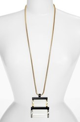 Women's Lafayette 148 New York Art Deco Lucite Pendant Necklace