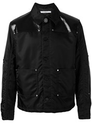 Givenchy Faux Leather Panelled Jacket Men Cotton Polyamide Polyurethane 48 Black