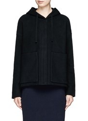James Perse Boxy Fit French Terry Zip Hoodie Black