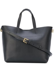 Tom Ford Perforated Branded Tote Women Calf Leather Polyamide Polyurethane One Size Black