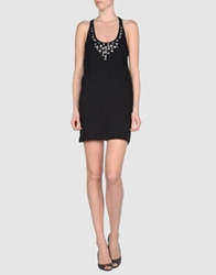 Monica Bianco Short Dresses Black