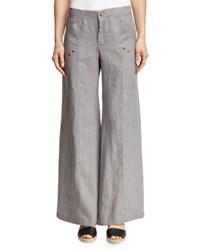 Xcvi Juliana Wide Leg Linen Pants Grey