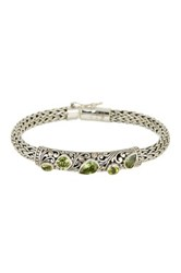Phillip Gavriel 18K Yellow Gold And Sterling Silver Peridot Bracelet Multi