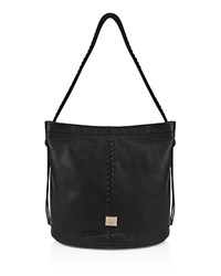 Kooba Limon Leather Bucket Bag Black Gold