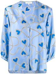 Chinti And Parker Heart Print Blouse 60