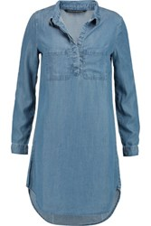 W118 By Walter Baker Rena Chambray Mini Dress Mid Denim