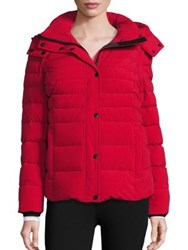 Andrew Marc New York Quilted Wool And Down Blend Jacket Red
