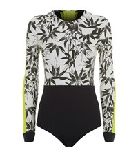 The Upside Bamboo Print Paddle Suit Female Multi
