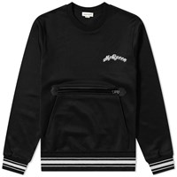 Alexander Mcqueen Pocket Front Logo Crew Sweat Black