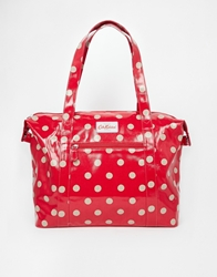 Cath Kidston Large Zipped Shoulder Bag Cranberry