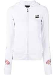 Philipp Plein Indian Pink Hoodie Women Cotton Polyester Modal S White