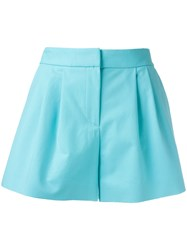 Boutique Moschino Pleated Shorts Blue