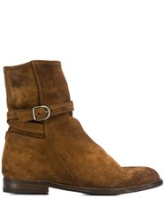 Pantanetti Side Buckle Boots Brown