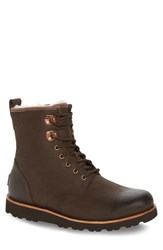 Uggr Men's Ugg 'Hannen' Plain Toe Waterproof Boot With Genuine Shearling Stout