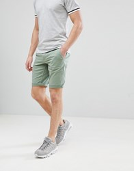 Boss Slim Fit Chino Shorts In Green