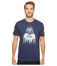 Life Is Good Papa Bear Crusher Tee Darkest Blue Men's T Shirt