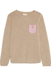 Chinti And Parker Two Tone Cashmere Sweater Beige