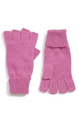 Trouve Basic Fingerless Gloves Pink Bodacious