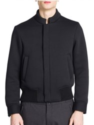 Emporio Armani Techno Knit Blouson Jacket Black