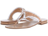 Jack Rogers Alana Cork White Women's Sandals Silver