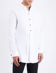 Ann Demeulemeester Longline Loose Fit Cotton Shirt White