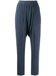 Raquel Allegra Dropped Crotch Pants Blue
