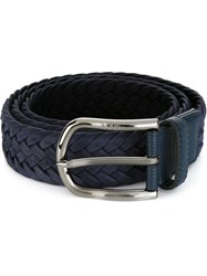 Tod's Braided Belt Blue
