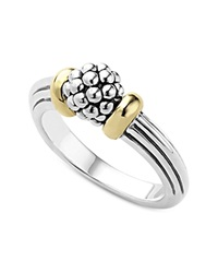 Lagos 18K Gold Caviar Forever Small Dome Ring Gold Silver