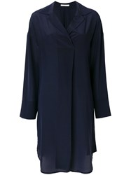 Odeeh Shift Shirt Midi Dress Blue