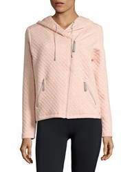 Bench Quilted Zip Up Hoodie Coral Pink