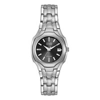 Citizen Ew1400 53H Women's Titanium Date Bracelet Strap Watch Silver Black