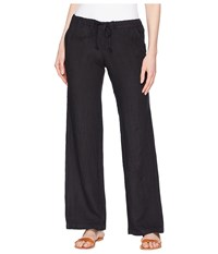 Allen Allen Solid Long Pants Black Casual Pants