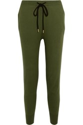 Markus Lupfer Cotton Jersey Track Pants Army Green